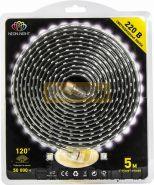 Светодиодная лента влагозащищенная 220В, 60 SMD3528, цвет тепло-белый, блистер 5 метров Neon-Night