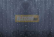 """Гирлянда """"Светодиодный Дождь"""" 2х1,5м, постоянное свечение,прозрачный провод, 220В, диоды БЕЛЫЕ"""