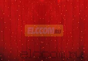 """Гирлянда """"Светодиодный Дождь"""" 2х3м, постоянное свечение, прозрачный провод, 220В, диоды КРАСНЫЕ"""