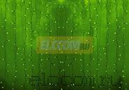 """Гирлянда """"Светодиодный Дождь"""" 2х3м, постоянное свечение, прозрачный провод, 220В, диоды ЗЕЛЕНЫЕ"""