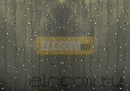 """Гирлянда """"Светодиодный Дождь"""" 2х3м, постоянное свечение, прозрачный провод, 220В, диоды ТЁПЛО БЕЛЫЕ, NEON-NIGHT"""