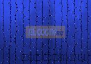 """Гирлянда """"Светодиодный Дождь"""" 2х6м, постоянное свечение, черный провод """"КАУЧУК"""", 220В, диоды СИНИЕ, NEON-NIGHT"""
