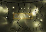 """Гирлянда Айсикл (бахрома) светодиодный, 5,6х0,9м, черный провод """"КАУЧУК"""", 220В, диоды тепло-белые, NEON-NIGHT"""