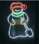 """Фигура светодиодная """"Снеговик с лопатой"""", размер 94*63 см NEON-NIGHT"""