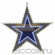 """Фигура """"Звезда"""" бархатная, с постоянным свечением, размеры 61 см (81 светодиод зеленого+белого+голубого цвета)"""
