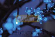 """Светодиодное дерево """"Сакура"""", высота 2,4м, диаметр кроны 2,0м, синие светодиоды, IP 64, понижающий трансформатор в комплекте, NEON-NIGHT"""