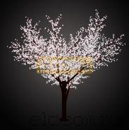 """Светодиодное дерево """"Сакура"""", высота 3,6м, диаметр кроны 3,0м, белые светодиоды, IP 64, понижающий трансформатор в комплекте, NEON-NIGHT"""
