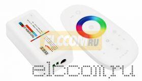 Беспроводной RGB контроллер 2.4G с пультом ДУ с сенсорным управлением; 12-24V, 18А