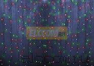 """Гирлянда """"Светодиодный Дождь"""" 1,5х1м, свечение с динамикой, прозрачный провод, 220В, диоды МУЛЬТИКОЛОР, NEON-NIGHT"""