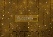 """Гирлянда """"Светодиодный Дождь"""" 2х3 м, постоянное свечение, белый провод, 220В, диоды ЖЁЛТЫЕ, NEON-NIGHT"""