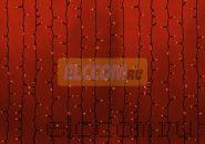"""Гирлянда """"Светодиодный Дождь"""" 2х3м, постоянное свечение, черный провод """"КАУЧУК"""", 220В, диоды КРАСНЫЕ, NEON-NIGHT"""