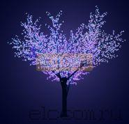 """Светодиодное дерево """"Сакура"""", высота 3,6м, диаметр кроны 3,0, синие светодиоды, IP 64, понижающий трансформатор в комплекте, NEON-NIGHT"""